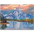 Trademark Global David Lloyd Glover in.Majestic Blue Mountainin. Canvas Art, 35in. x 47in.