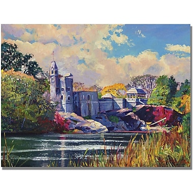 Trademark Global David Lloyd Glover in.Belvedere Castle Central Parkin. Canvas Art, 24in. x 32in.