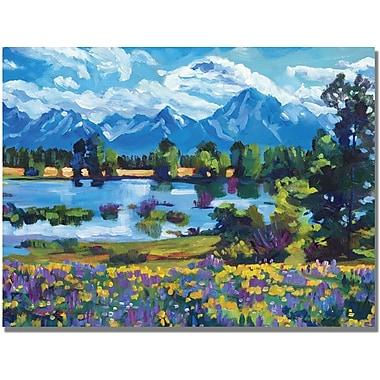 Trademark Global David Lloyd Glover in.Wildflower Valleyin. Canvas Art, 18in. x 24in.
