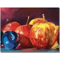 Trademark Global David Lloyd Glover in.Ripe Plums and Applesin. Canvas Arts