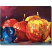 "Trademark Global David Lloyd Glover ""Ripe Plums and Apples"" Canvas Art, 35"" x 47"""