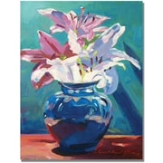 "Trademark Global David Lloyd Glover ""Lilies in Blue"" Canvas Art, 18"" x 24"""
