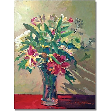 Trademark Global David Lloyd Glover in.A Glass Full of Springin. Canvas Art, 18in. x 24in.