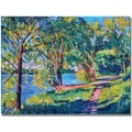 Trademark Global David Lloyd Glover in.Summers Lakein. Canvas Art, 18in. x 24in.