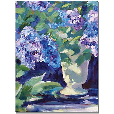 Trademark Global David Lloyd Glover in.Lavendar Hydrangeasin. Canvas Art, 24in. x 32in.