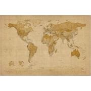 """Trademark Global Michael Tompsett """"Antique World Map"""" Canvas Art, 30"""" x 47"""""""