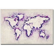 "Trademark Global Michael Tompsett ""Paint Outline World Map II"" Canvas Arts"