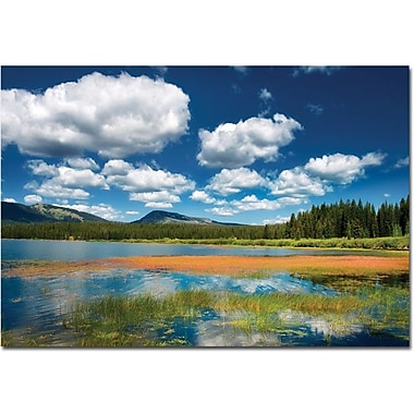 Trademark Global Philippe Sainte Laudy in.Blue Infinityin. Canvas Art, 30in. x 47in.