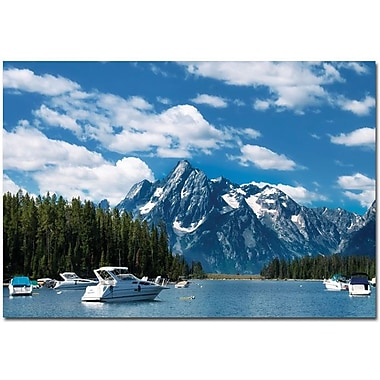Trademark Global Philippe Sainte Laudy in.Instant Bluein. Canvas Art, 30in. x 47in.