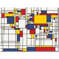 Trademark Global Michael Tompsett in.Mondrian World Mapin. Canvas Arts
