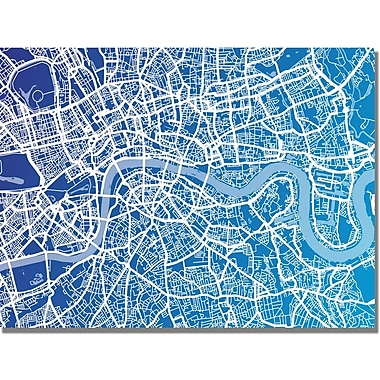 Trademark Global Michael Tompsett in.London Mapin. Canvas Art, 18in. x 24in.