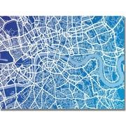 "Trademark Global Michael Tompsett ""London Map"" Canvas Art, 22"" x 32"""