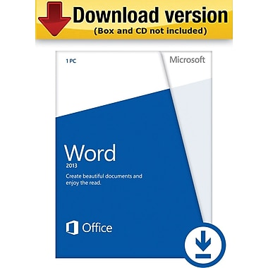 Microsoft Word 2013 for Windows (1-User) [Download]