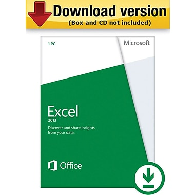 Microsoft Excel 2013 for Windows (1-User) [Download]