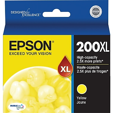 Epson 200XL, Yellow Ink Cartridge, High Capacity (T200XL420)