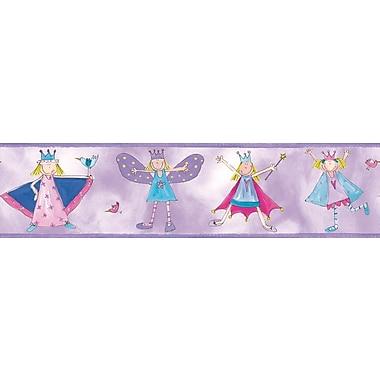 RoomMates® Fairy Princess Peel & Stick Border-Fuchsia,Light Gray,Light Purple,Light Violet,180