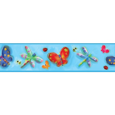 RoomMates® Jelly Bugs Peel and Stick Border, Multi-color, 5in. H x 180in. W