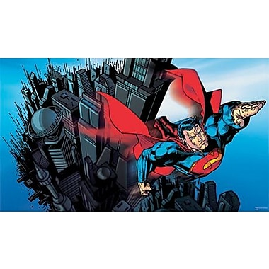 RoomMates® Superman™ Chair Rail Prepasted Wall Mural, 6 ft H x 10 1/2 ft W