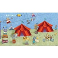 RoomMates® Big Top Circus Chair Rail Prepasted Wall Mural, 6 ft H x 10 1/2 ft W
