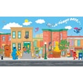 RoomMates® Sesame Street Chair Rail Prepasted Wall Mural, 6 ft H x 10 1/2 ft W