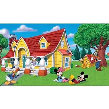 RoomMates® Mickey and Friends Chair Rail Prepasted Wall Mural, 6 ft H x 10 1/2 ft W