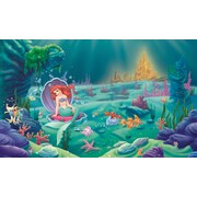 RoomMates® Littlest Mermaid Chair Rail Prepasted Wall Mural, 6 ft H x 10 1/2 ft W