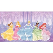 RoomMates® Disney Perfect Princess Chair Rail Prepasted Wall Mural, 6 ft H x 10 1/2 ft W