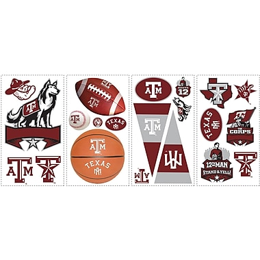 RoomMates® Texas A and M University® Peel and Stick Wall Decal, 10