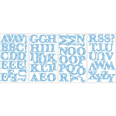 RoomMates® Express Yourself Blue Alphabet Peel and Stick Wall Decal, 10