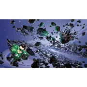 RoomMates® Green Lantern Chair Rail Prepasted Wall Mural, 6 ft H x 10 1/2 ft W