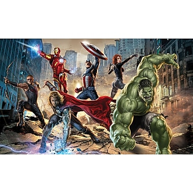 RoomMates® The Avengers™ Chair Rail Prepasted Wall Mural, 6 ft H x 10 1/2 ft W