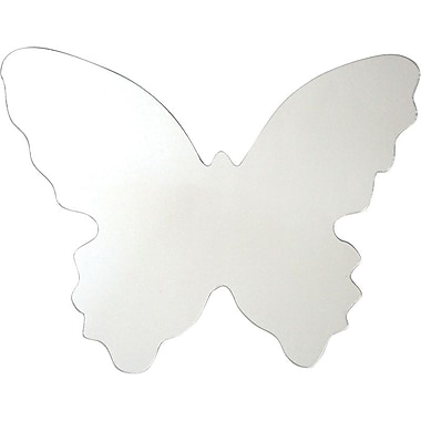RoomMates® Butterfly Shape Peel and Stick Wall Mirror, Large, 10in. H x 11 3/4in. W