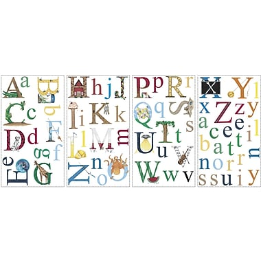 RoomMates® Alphabet Peel and Stick Wall Decal, 10in. x 18in.