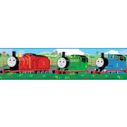 "RoomMates® Thomas and Friends Peel & Stick Border-Black,Blue,Green,Lime,Pink,Red,Teal Blue, 180""x5"""
