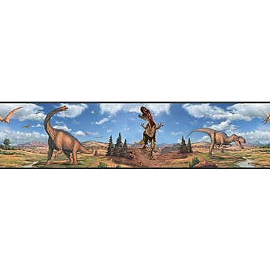 RoomMates® Dinosaur Peel and Stick Border, Multi-color, 180in. L x 5in. H