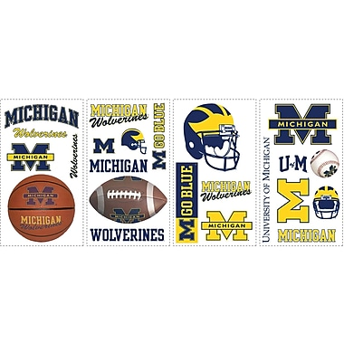 RoomMates® University of Michigan® Peel and Stick Wall Decal, 10