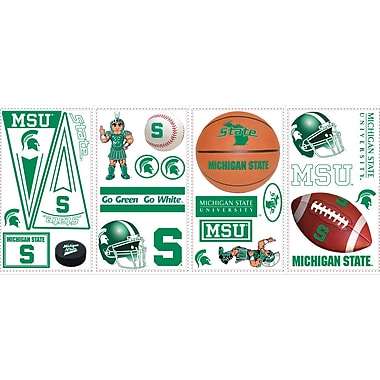 RoomMates® Michigan State University Peel and Stick Wall Decal, 10in. x 18in.