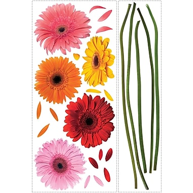 RoomMates® Gerber Daisies Peel and Stick Wall Decal, 40in. x 18in., 40in. x 9in.