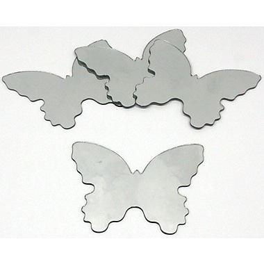 RoomMates® Butterfly Shape Peel and Stick Wall Mirror, Small, 4 3/4in. H x 5 1/2in. W