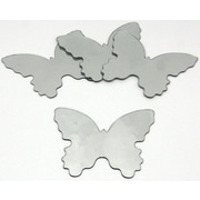 """RoomMates® Butterfly Shape Peel and Stick Wall Mirror, Small, 4 3/4"""" H x 5 1/2"""" W"""