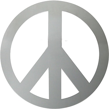 RoomMates® Peace Sign Peel and Stick Wall Mirror, Large, 10 3/4in. H x 10 3/4in. W