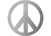 RoomMates® Peace Sign Peel and Stick Wall Mirror, Large, 10 3/4' H x 10 3/4' W