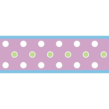 RoomMates® Polka Dot Peel and Stick Border, Purple, 180in. L x 5in. H