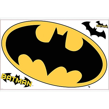 RoomMates® Batman™ Logo Peel and Stick Giant Wall Decal, 40in. x 22in.