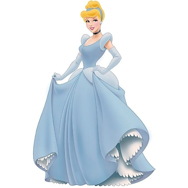 RoomMates® Cinderella Peel and Stick Giant Wall Decal with Gems, 18in. x 40in., 9in. x 40in.