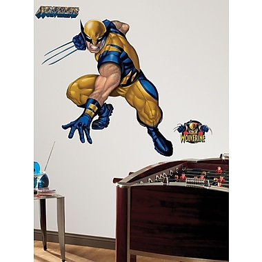 RoomMates® Wolverine Peel and Stick Giant Wall Decal, 18in. x 40in., 9in. x 40in.