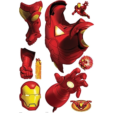 RoomMates® Iron Man Peel and Stick Giant Wall Decal, 18in. x 40in., 9in. x 40in.
