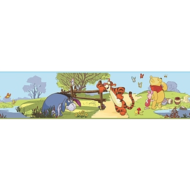 RoomMates® Pooh and Friends Peel and Stick Border, Multi-color, 180in. L x 5in. H