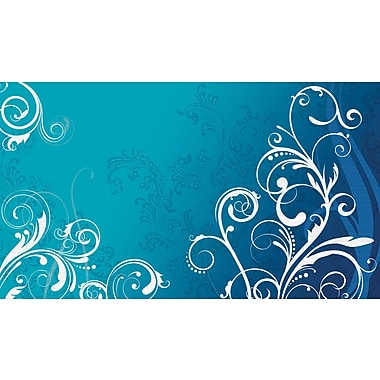 RoomMates® Blue and White Deco Scroll Chair Rail Prepasted Wall Mural, 6 ft H x 10 1/2 ft W