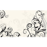 RoomMates® Black and White Deco Scroll Chair Rail Prepasted Wall Mural, 6 ft H x 10 1/2 ft W
